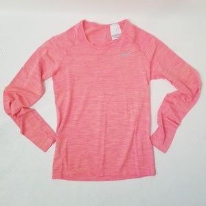 Nike Dry Fit Long Sleeve Thumb Holes Pink